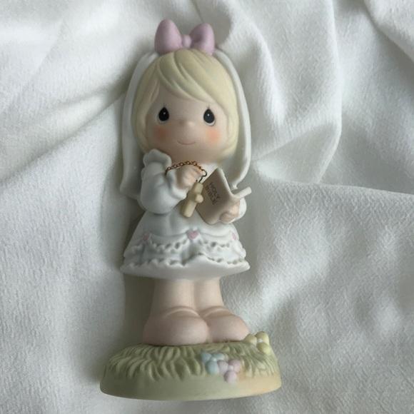 Precious Moments First Communion ceramic figurine